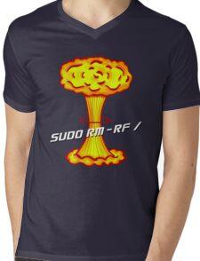 Sudo rm -rf / Mens V-Neck T-Shirt