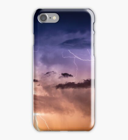 Cloudscape with thunder bolt iPhone Case/Skin