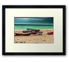 Fishing Boats Framed Print
