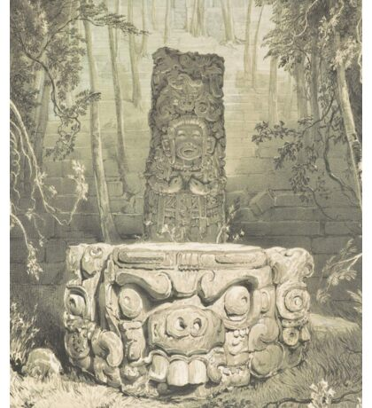 Idol and Altar at Copan – Ancient Monuments in Central America (Catherwood, Frederick) Sticker