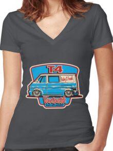 T4 Vantastic Women's Fitted V-Neck T-Shirt