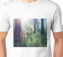 Sunny morning in the forest Unisex T-Shirt