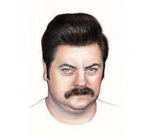 Ron Swanson Portrait Nick Offerman Art Photographic Print