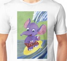 Surfing Elephant Unisex T-Shirt
