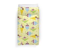 Ice Cream Sundae Pattern Duvet Cover
