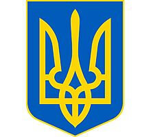 Ukraine Coat of Arms Photographic Print