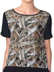 Dead Grass Chiffon Top