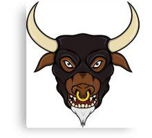 Masked Minotaur Bull Head Canvas Print