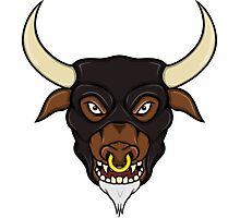 Masked Minotaur Bull Head Photographic Print