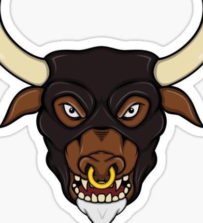 Masked Minotaur Bull Head Sticker