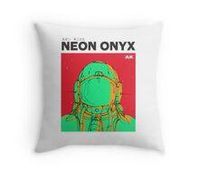 Neon Onyx - Green Throw Pillow