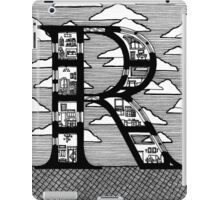 Letter R Architecture Section Alphabet iPad Case/Skin