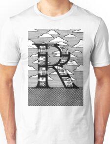 Letter R Architecture Section Alphabet Unisex T-Shirt