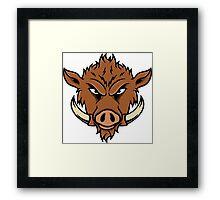 Wild Boar Face Framed Print