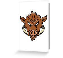 Wild Boar Face Greeting Card