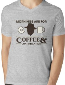 Top Seller - Stranger Things: Mornings are for Coffee and Contemplation (version one) Mens V-Neck T-Shirt