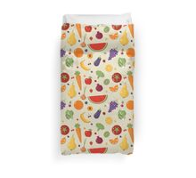 Healthy Food Seamless Pattern with Fruits and Vegetables Duvet Cover