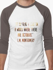 A World Where There Are Octobers Men's Baseball ¾ T-Shirt