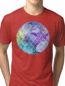 Watercolor and Ink Moroccan  Pattern Tri-blend T-Shirt