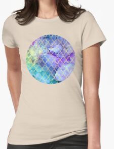 Watercolor and Ink Moroccan  Pattern Womens Fitted T-Shirt