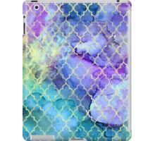 Watercolor and Ink Moroccan  Pattern iPad Case/Skin