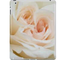 Close Up View Of A Romantic White Wedding Rose iPad Case/Skin