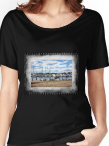 Harbour scene Women's Relaxed Fit T-Shirt