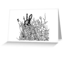 Hare in a field Greeting Card