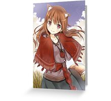 Spice and Wolf - Holo Greeting Card