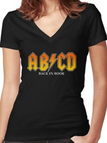 ABCD Back In Book Women's Fitted V-Neck T-Shirt