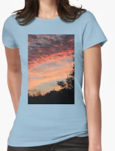 Peach Sunset Sky Womens Fitted T-Shirt