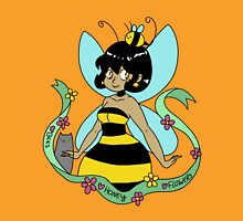 Bee Fairy and Cat Womens Fitted T-Shirt