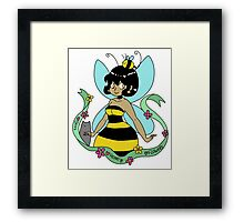 Bee Fairy and Cat Framed Print