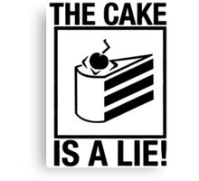 Portal The Cake is a Lie  Canvas Print