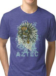 Aztec Skull Tri-blend T-Shirt