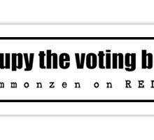 OCCUPY THE VOTING BOOTH Sticker