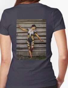Badillo Preistess Shaman Queen Nymph of ebony, ivory and gold Womens Fitted T-Shirt