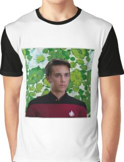 Floral Wesley Crusher Graphic T-Shirt