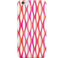 Mid-Century Ribbon Print, Coral and Pink iPhone Case/Skin