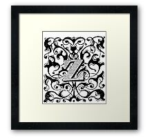 Small Cap Letter Y Framed Print
