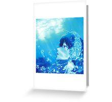 Summer Free! Haruka Nanase  Greeting Card
