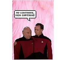 Q and Picard  Photographic Print