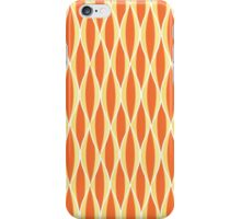 Mid-Century Ribbon Print, Orange and Yellow iPhone Case/Skin