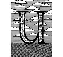 Letter U Architecture Section Alphabet Photographic Print