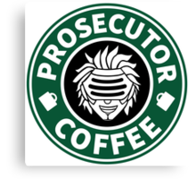 Prosecutor Coffee Canvas Print