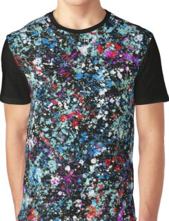 paint drop design - abstract spray paint drops 3 Graphic T-Shirt