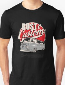 Rust & Custom Bay Window Campervan Unisex T-Shirt
