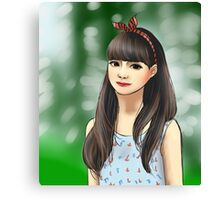 Korean Girl Canvas Print