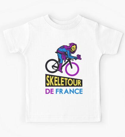 Cycling Skeletor Kids Tee