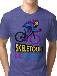 Cycling Skeletor Tri-blend T-Shirt